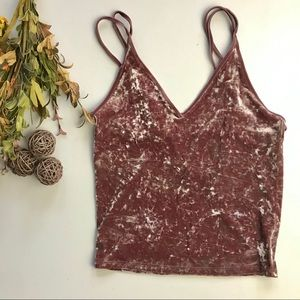 American Eagle Outfitters velour tank top